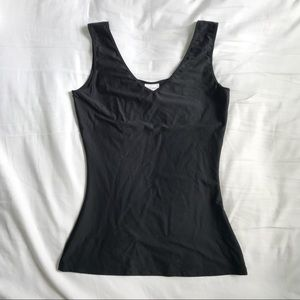Jockey Slimmers Reversible Hidden Panel Black Tank